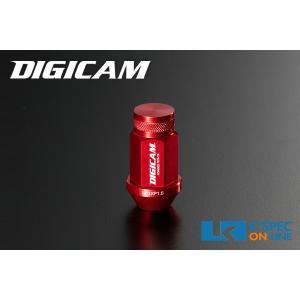 DIGICAM アルミレーシングナット 20本セット 19HEX 袋タイプ 45mm/レッド_[AN6F451]|kspec