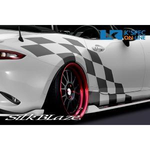 SilkBlaze sports チェッカーフラッグ【NDロードスター】/メタリックカラー_[CF-RS-metaric]|kspec