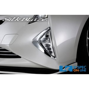 SilkBlaze【50系プリウス】フォグランプクロームカバー_[FGG-50PR-C]|kspec
