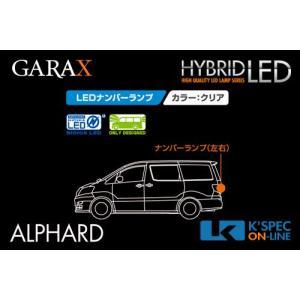 【10系アルファード】GARAX ハイブリッドLEDナンバーランプ kspec
