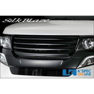 ホンダ【N-BOXカスタム JF1/JF2】SilkBlaze Lynx Works カラーフロントグリル【202ブラック塗装】_[L-NBOXCFG]|kspec