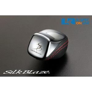 SilkBlaze シフトノブ【50系プリウス】[クローム/レッドステッチ]_[SB-LSK-088]|kspec