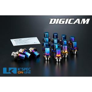 DIGICAM チタンレーシングナット 16本セット トヨタ純正 7角袋タイプ 43.5mm_[TNF15-TOYOTA16]|kspec