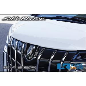 トヨタ【30系アルファード 後期】SilkBlaze フードトップモール【未塗装】_[TSR3AS-HTM]|kspec