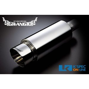 [販売終了]GRANGIO オールステンレスマフラー 砲弾100φJA12JIMNY_[MCA-G-002]|kspec
