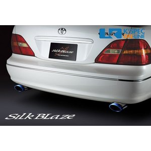 SilkBlaze マフラーカッターL/Rセット【チタン/オーバル】30系セルシオ前期_[SB-CUT-024]|kspec