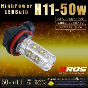 .H11 LED フォグ ホワイト バルブ CREE 50W 12V 2個セット プロジェクターレンズ フォグランプ フォグライト フォグバルブ 白 _27155|ksplanning
