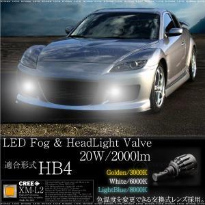 HB4 CREE LED 20W 2000LM 12V/24V 3000K 6000K 8000K バルブ 2個 フォグランプ ヘッドライト 2000ルーメン カバー取替え可能 _27220|ksplanning
