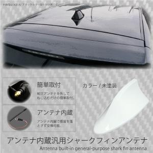 シャークフィンアンテナ BMW風 アンテナ内蔵 汎用 簡単取付け 未塗装 両面テープ付属  シャークアンテナ _45367|ksplanning