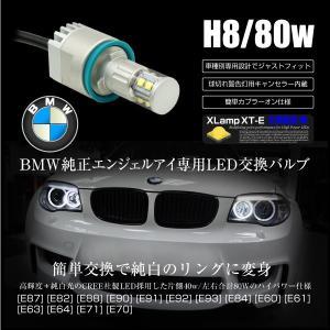 BMW LED イカリング バルブ CREE 80W 6000K H8 キャンセラー 純正交換 2個 E87 E82 E88 E90 E91 E92 E93 E84 E60 E61 E63 E64 E71 E70   _59753|ksplanning