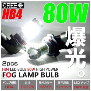 HB4 LED/バルブ フォグ 80W/6000K級 CRRE/LEDチップ ホワイト/白 プロジェクターレンズ/リフレクター搭載 カスタム  _27161(6225)|ksplanning