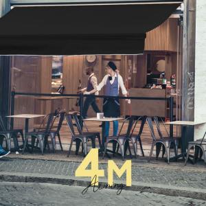 オーニングテント 4m 2.5m 日よけ シェード ブラック フレーム 黒 日除けシェード サンシェ...