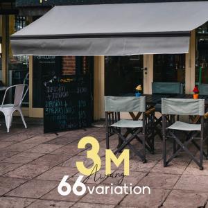 オーニングテント 3m 張出し2m 日よけ シェード 日除けシェード サンシェード スクリーン 生地色 フレームカラー 垂れ幕タイプ 選べる|インポート直販Ks問屋