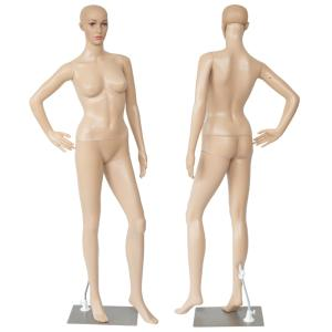 マネキン 全身 リアルマネキン 女性 靴対応 軽くて強い 176cm B83/W61/H86 ディスプレイ/撮影/トルソー/マネキン人形/可動/頭/手 □ _74140
