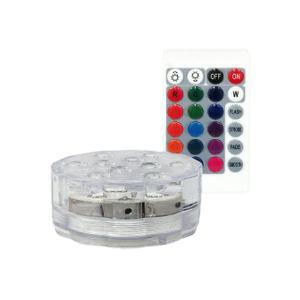 照明 RGB ワイヤレス 電池式 リモコン 防水 LEDコースター インテリア おしゃれ 光る台座 ...