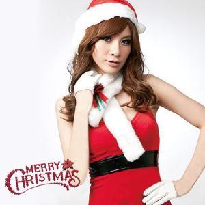 コスプレ サンタ 衣装 レディース セクシー かわいい ノースリーブ 帽子付き ミニ サンタクロース 可愛い 仮装 クリスマス 女性用 _81112|ksplanning