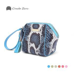 ミニバッグ ポーチ パイソン レディース 蛇革 ヘビ 本革 かわいい タッセル 選5色 ブランド create zero @82206|ksplanning