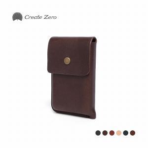 カードケース メンズ レディース 革 本革 皮 名刺入れ 名刺 クレジットカード 6色 ブランド create zero @82212|ksplanning