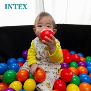 ボールプール ボール カラーボール おもちゃ 100個/55mm 収納バッグ入り INTEX社製/子供 幼児 キッズテント ボールハウス 室内 ファンボール/ △_85270