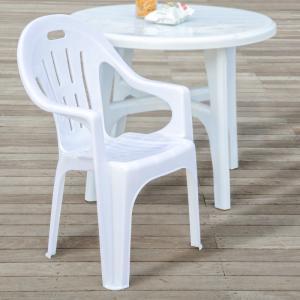 ガーデンチェア ホワイト スタッキングチェア 軽量2.8kg 耐久性良 1脚 屋外 キャンプ アウトドア ガーデン家具 椅子/いす/イス□ _86122|ksplanning