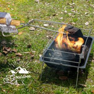 ファイヤープレーストング 薪ばさみ 火ばさみ 火バサミ ステンレス キャンプ アウトドア 焚き火 た...