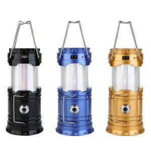 ランタン LED ソーラー充電式 アウトドア 白色/炎色 2色切替 スポットライト付 簡易防水 イン...
