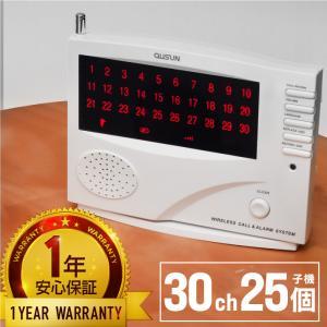 ワイヤレスチャイム コードレスチャイム 業務用 最大登録/30ch 送信機/25個/無料登録サービス インターホン 呼び鈴 呼び出しチャイム/_92087|ksplanning