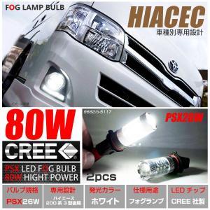 ハイエース 200系 3型 後期 LED/バルブ フォグ 80W/6000K級 CRRE ホワイト/白 プロジェクターレンズ/リフレクター  _27163(9682)|ksplanning