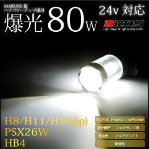 80W LED HB4 H8 H11 H16 PSX26W ホワイト サムスンチップ 12V/24V 無極性 2個 フォグランプ 等に 6000K バルブ 白 @a528|ksplanning