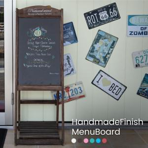 ブラックボード 黒板 看板 アンティーク スタンド 棚板付 木製 おしゃれ 北欧 メッセージボード ...