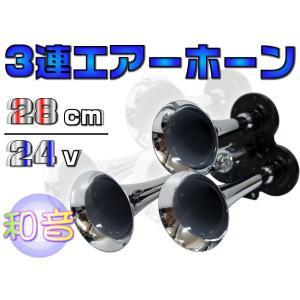 3連エアーホーン ヤンキーホーン 24V用 _44041|ksplanning