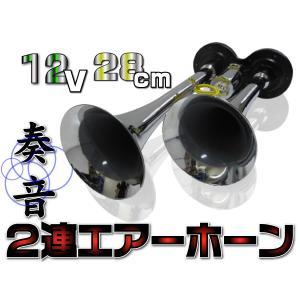 2連エアーホーン ヤンキーホーン 12V用 _45097|ksplanning