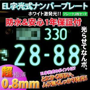 字光式ELナンバープレート 超薄型0.8mm2枚セット _28108|ksplanning
