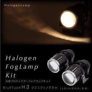 H3 55W フォグランプ ヘッドライト 汎用 プロジェクターランプ 2個 加工 埋め込み ステー 後付け ハロゲン HID/LED 交換可能 あす つく _28029|ksplanning