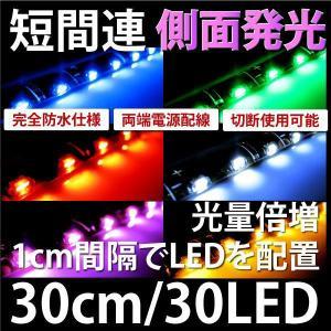 LEDテープ 側面発光 30cm30LED 黒ベース カラー選択 @a085|ksplanning