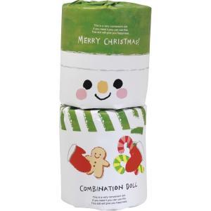クリスマス 雪だるま トイレットペーパー コンビネーションドール/AR0626138|kss-s