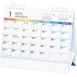 卓上 2018年 5連エコカレンダー(レインボー)/TSR-500(2018) 名入れ可