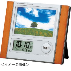 写真立て 時計フォトフレーム電波時計記念品 ギフト|kss-s