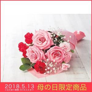 母の日 ギフト 母の日 花束ブーケ 薔薇 バラ ピンク プレゼント|kss-s