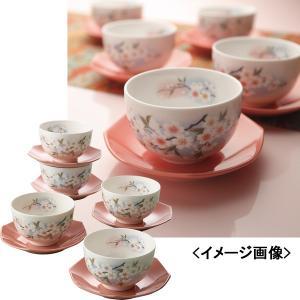 カップ&ソーサー 5客茶菓揃 淡墨桜和食器 キッチン用品 ティーセット|kss-s