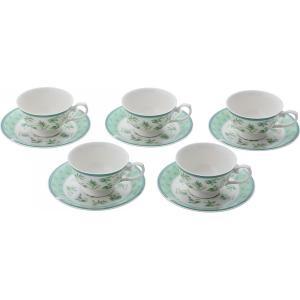 カップソーサーコーヒー碗皿5客セット ハーブランド キッチン用品 食器|kss-s