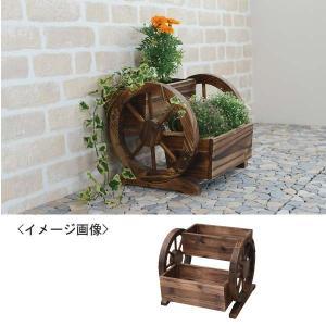 木製プランター花車輪ガーデニング|kss-s