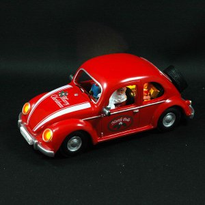 クリスマス オルゴール プレゼント 雑貨 LED付オルゴール RED CAR|kss-s