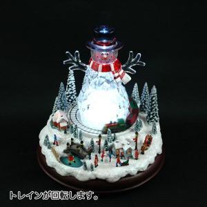 クリスマス オルゴール プレゼント 雑貨 LED付オルゴール スノーマン|kss-s