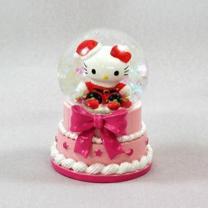 スノードームハローキティ45mmドーム(ケーキ)クリスマス 置物 キャラクター|kss-s
