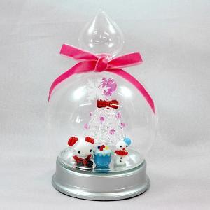 クリスマスオブジェハローキティドーム(スノーマンA)置物 キャラクター かわいい|kss-s