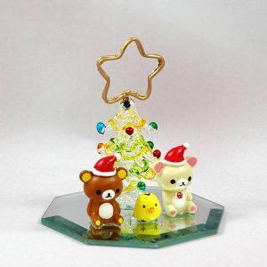 リラックマ ツリー カードホルダー GREEN クリスマス プレゼント 雑貨|kss-s