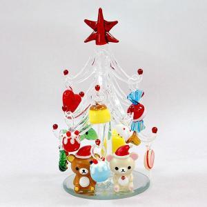 リラックマ ガラスツリー  CLEAR クリスマス プレゼント 雑貨|kss-s