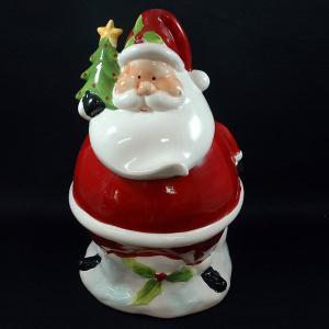 クリスマス 雑貨 飾り オブジェ 小物入れビッグサンタL|kss-s