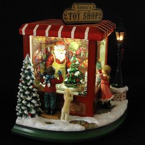 クリスマス 雑貨 オルゴール TOYSHOP トイショップ LED付オルゴール|kss-s